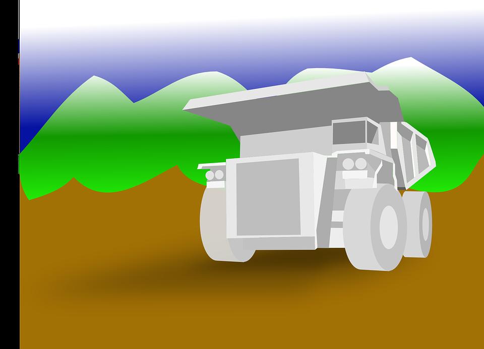 kreslený náklaďák